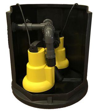 Twin Pump Cellar Sump Pump System